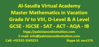 A level Tutors in Saudi Arabia, Kuwait, Qatar, Pakistan