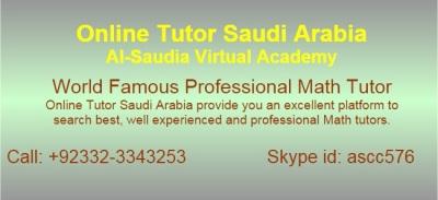 Online Math Tuition, Math tutors Saudi Arabia