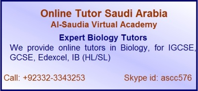 Online biology tuition Saudi Arabia, biology tutors Saudi Arabia