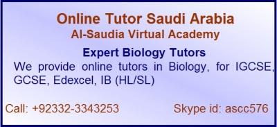 Online A level Biology Tutors in Saudi Arabia
