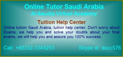 Online Tuition Help Center Saudi Arabia