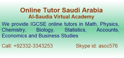 IGCSE Online Tutors Saudi Arabia