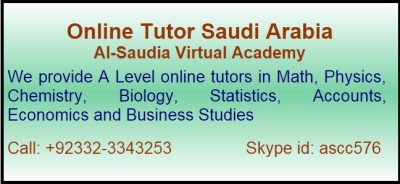 Online A Level Tutor in Saudi Arabia
